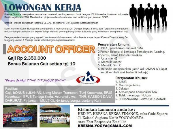 Lowongan Kerja Account Officer Di Kresna Finance Lokerjogja Id