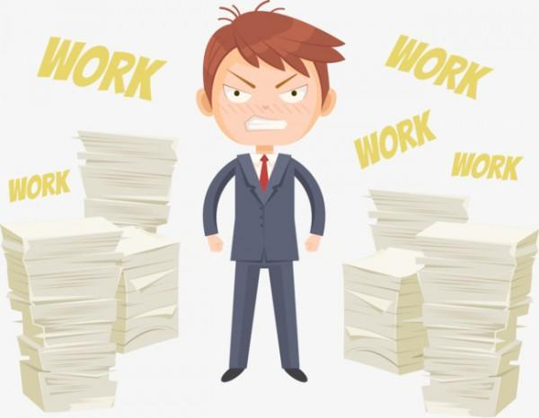 Pngtree Vector Character Work Piling Up Png Clipart 2703230