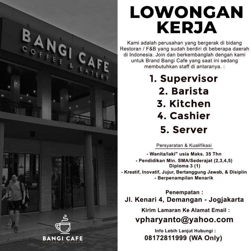 Lowongan Kerja Cafe Like And Share