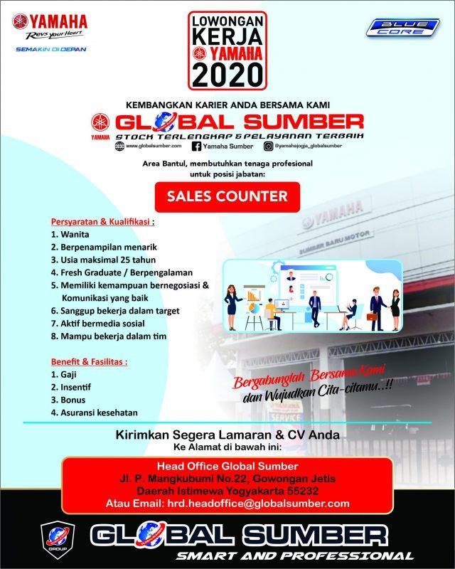 Lowongan Kerja Sales Counter Di Yamaha Global Sumber Lokerjogja Id
