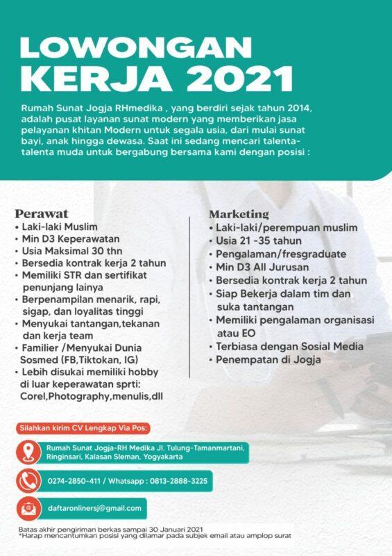 Lowongan Kerja Perawat Marketing Di Rumah Sunat Jogja Rhmedika Lokerjogja Id